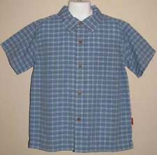 NWT~BOUTIQUE~TINY BUBBAS~BLUE PLAID~BUTTON-UP~SHORT SLEEVED~SHIRT~5~SALE~$24