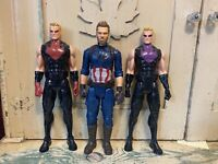 Marvel Avengers Action Figures Lot 0f 3 Cpt. America and 2 Hawkeye
