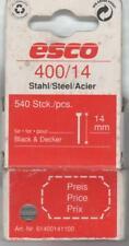 ESCO TACKERNÄGEL 400 / 14 BLACK & DECKER B&D 540 Stück--Nägel