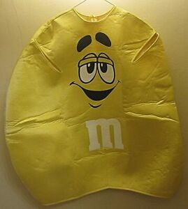 YELLOW M & M COSTUME - Good, Used Condition - One Size Fits Most