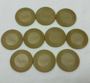 Tripoley Special Edition Replacement Chips 10 Gold Colored Anniversary Pieces