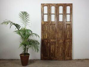 Pair of Antique Vintage Worn Painted Bi-Fold Screen Doors MILL-942/3 C9
