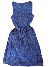 ASOS Navy and Orange Polka Dot Dress Size 2