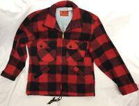 Vintage Kings Road Sears Wool Jacket Plaid Rockabilly Men's Small Full Cut