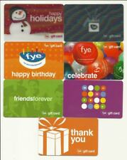 Lot of (7) F.Y.E. Gift Cards No $ Value Collectible with Lenticular FYE