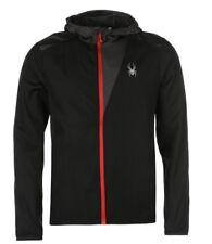Mens Spyder Alpine Full Zip Lightweight Hooded Jacket XL 54 Black Grey