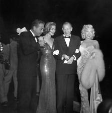Marilyn Monroe Lauren Bacall Humphrey Bogart RARE 2.25 b/w Negative Transparency