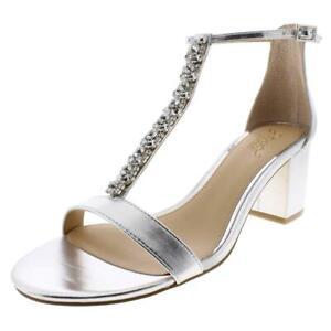 Jewel Badgley Mischka Womens Lindsey Evening Sandals 7.5 Medium (B,M)  4751