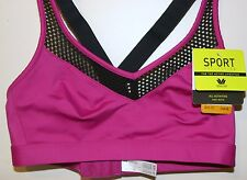 2b5711b7199e8 Wacoal Sport Stretch Sports Bra NWT New Size 34A 34B Smooth Cross Back  Wirefree