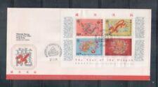 China Hong Kong ,1988 Year of the Dragon MS on FDC