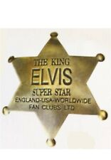Vintage Elvis Super Star 6 Point Badge