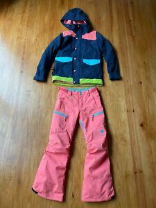 Burton Kids Girls Outerwear Jacket and Pants Size Medium Used Ski Snowboard