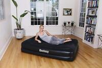 Bestway Inflatable Premium Queen Size Air Bed Mattress Builtin Electric Air Pump