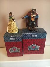 RARE Disney Traditions Beast And Belle Beauty Hanging Ornament Boxed Christmas