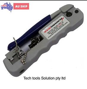 All-in-One Universal RG59/RG6/BNC/RCA Coax Compression Snap-N-Seal tool isgm nbn