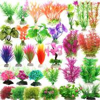 Fish Tank Plastic Plant Ornament Decoration Aquarium Green Grass Water Landscape