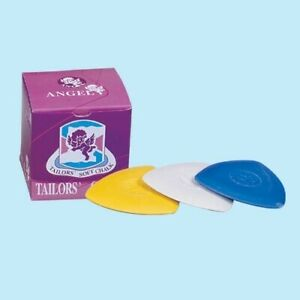 TAILORS CHALK - Dressmaker Sewing soft Chalk Triangle Pack of 2 WHITE