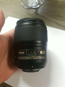NIKON AF-S Micro NIKKOR 60 mm f/2.8G ED Lens