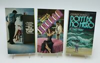 Lot of 5 1970s Paperback Books Sexy Thrillers Mystery Vintage Pulp VG Sleaze A87
