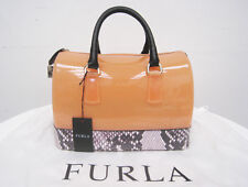 FURLA CANDY BAG SALMON CROCODILE + PADLOCK GOLD *100% NEW + DUST BAG* 349€