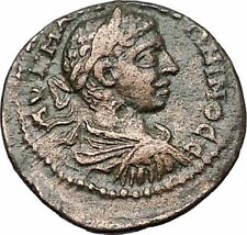 ELAGABALUS 218AD Amphipolis Macedonia Tyche Authentic Ancient Roman Coin i55491