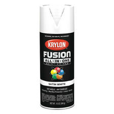 KRYLON K02753007 Rust Preventative Spray Paint, White, Satin, 12 oz.