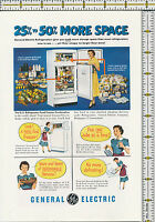 General Electric GE Refrigerator 1951 magazine print ad