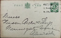 King George V ½ Penny Antique Postcard Posted from Newcastle 14th July 1914