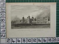 1829 Datato Antico Stampa ~ The New Militare Academy Woolwich ~ Kent