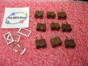 Transistor Socket 3-Pins Rectangular Phenolic PCB Mount - Used Pulls Qty 9