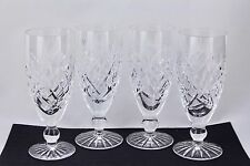 "SET OF 4 WATERFORD CRYSTAL DONEGAL 6"" FLUTED CHAMPAGNE GLASSES #2 - MINT"