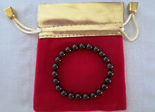 "New 8 MM Dark Red / Pomegranate Gemstone Round Beads Crystal Bracelet 7.5"""