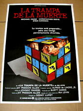 DEATHTRAP Original RUBIK'S CUBE Movie Poster MICHAEL CAINE CHRISTOPHER REEVE