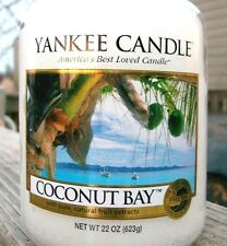 """Yankee Candle """"COCONUT BAY""""  Fresh Scented LG 22 oz ~ WHITE LABEL ~ NEW!"""