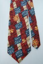 New listing American Egale Cotton Lonestar Flag Sun Moon Red Blue Men Necktie Tie Z2-150