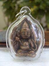 Shin Upagutta Buddhist Arahant  Brass Amulet Pendant-1
