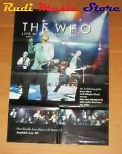 POSTER PROMO THE WHO LIVE ROYAL ALBERT HALL 84X 59,5 cm NO cd dvd vhs lp live mc