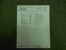 1989 VW Golf Diesel GL GTI Wiring Diagram Digifant AC Service Repair Manual OEM