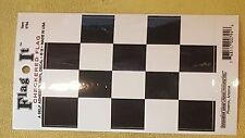 BRAND NEW BEST QUALITY CHECKERED FLAG VINYL BUMPER STICKER ADHESIVE DECAL JUMBO