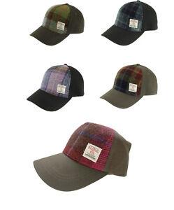 HARRIS TWEED WOVEN IN SCOTLAND BASEBALL CAP  GENUINE HAT Assorted Tweeds