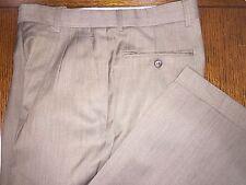 ZANELLA BROWN VIRGIN WOOL DRESS PANTS EXCELLENT CONDITION 30X29