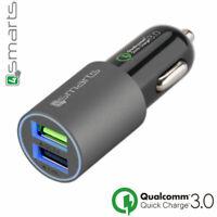 Caricabatterie caricatore carica batterie auto 4smarts rapido 30W 6A QC 3.0 Q5I