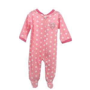 Chicago Bears NFL Baby Infant Girls Size Pink Pajama Sleeper Bodysuit New W Tag
