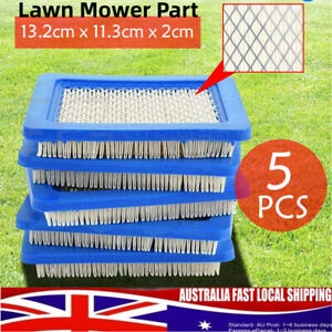 5pcs Air Filter Lawn Mower Fitting For Briggs & Stratton 491588 491588S 399959 N