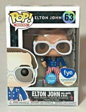Funko Pop Rock Elton John Elton John Red,White,Blue Glitter Fye Sticker