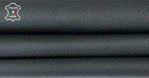BLACK PEBBLE GRAINY Italian goatskin goat leather skin skins 7sqf 0.7mm #A8174