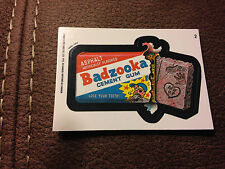 1992 o-pee-chee Canada Wacky Package #2 Bazooka BADZOOKA CEMENT GUM STICKER MINT