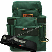 A Work Belt with Seven Pockets Nylon Electrician Carpenters Tool Pouch