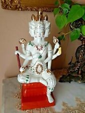 New ListingCeramic Chinese Oriental 4 Face 8 Arm Kwan-Yin /Quan Yin Ceramic Statue Figurine
