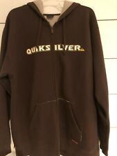 Quicksilver - Men's Hoodie - Full Zip - Size XL - Heavy - Brown